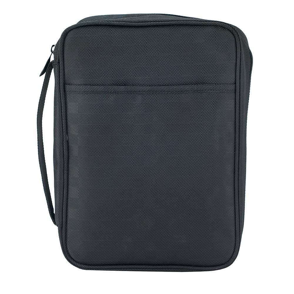 Black Checkered 8.5 x 11.5 inch Reinforced Polyester Bible Cover Case with Handle Dicksons