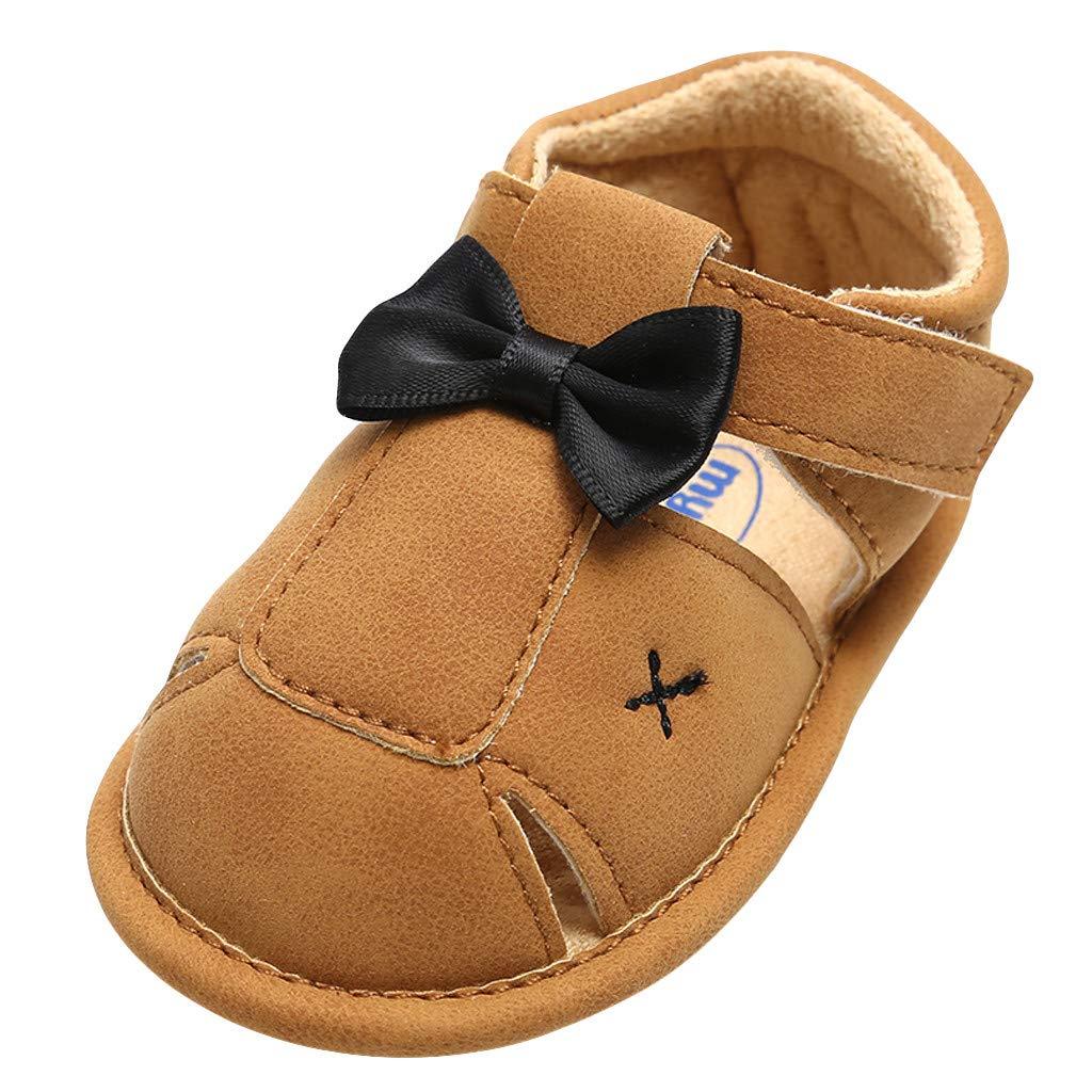 Baby Girl Princess Shoes,Jchen Newborn Infant Girl Cute Cartoon Eye First Walker Shoes Soft Bowknot Shoes for 0-18 Month (Age: 0-6 Months, Khaki)