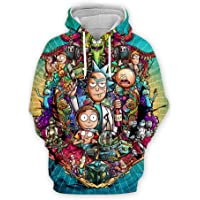 YX GIRL Novelty Unisex 3D Printed Ahegao Hoodies Drawstring Pockets Hoodie Sweatshirts