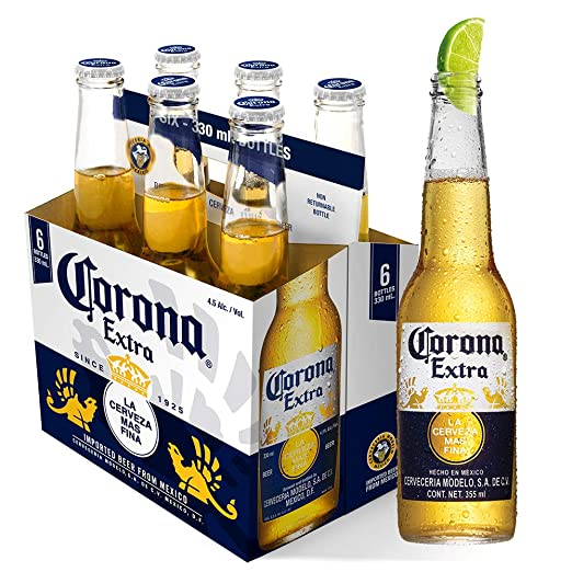 Corona Cerveza - Paquete de 6 x 355 ml - Total: 2130 ml ...