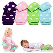 juDanzy girls polka dot 4 pack of baby leg warmers in pink aqua green & purple