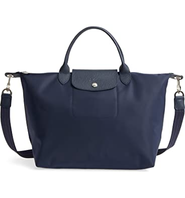 dfb59abee Image Unavailable. Image not available for. Color: Longchamp 'Medium Le  Pliage Neo' Nylon Top Handle Tote ...