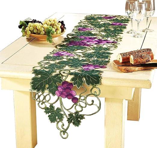 qxfsmile hecho a mano Crochet camino de mesa bordado y de uva ...