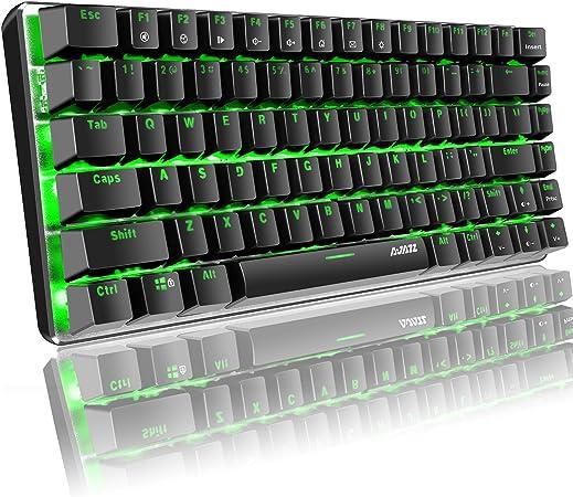 Teclado mecánico Hoopond, AK33 verde LED retroiluminado USB ...