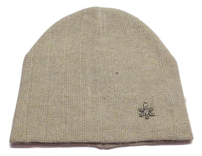68ccfd9e56e SYLAN Men s Winter Angoora Cap Cream S  Amazon.in  Clothing ...