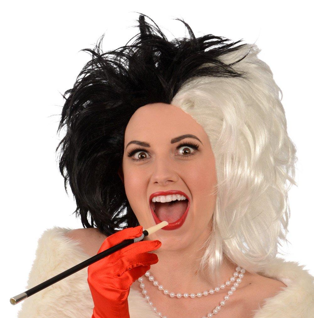 Kangaroo Cruel Lady Costume Wig Black and White