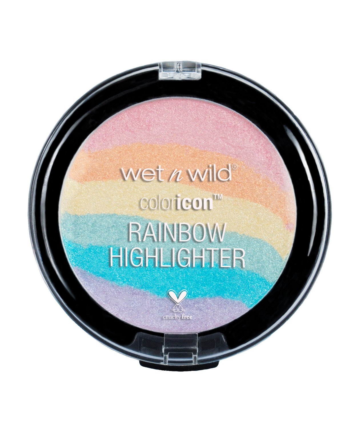 wet n wild Color Icon Rainbow Highlighter, Unicorn Glow, 0.26 Ounce Markwins Beauty Products 3100-34891