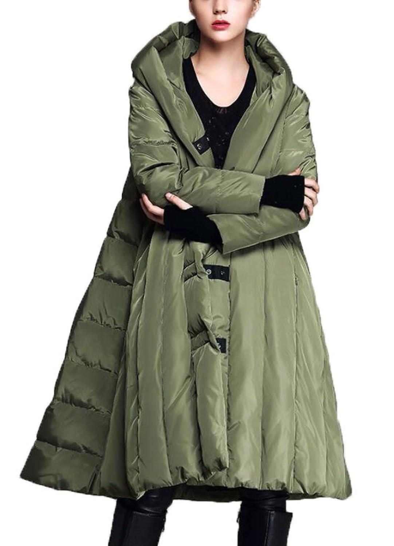 FZHLY Europa Y La Moda De Estados Unidos Gruesa Abajo Chaqueta Señoras Abrigo Largo