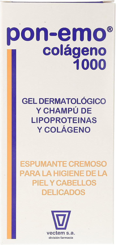 VECTEM S.A. Pon-Emo Colágeno Gel-Champú Dermatológico, Blanco, 1000 Mililitros