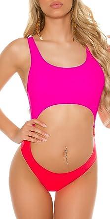 Sexy Bi-Color Monokini gepolstert, pink