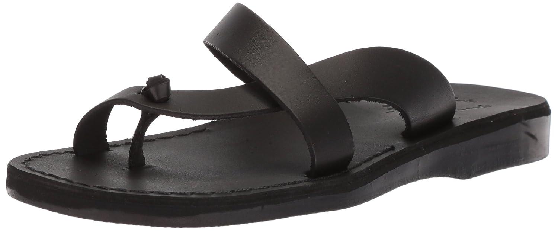 Jerusalem Sandals Women's Tal Slide Sandal B075KZ5VJ5 38 Medium EU (7-7.5 US)|Black