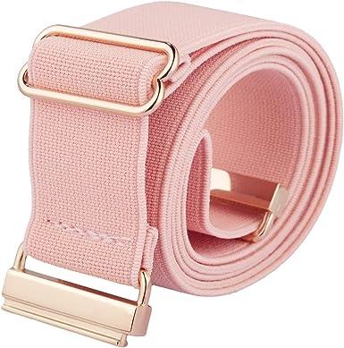 4 cm de ancho KYEYGWO con hebilla plana Cintur/ón el/ástico para mujer cintur/ón de cintura para vestido vaquero el/ástico
