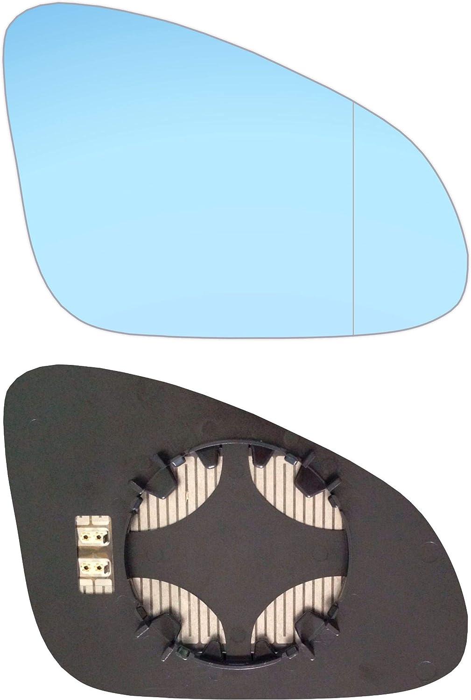 Rechts Blau Beifahrerseite Asph/ärish Spiegelglas mit Platte und Heizung #AM-OLASAJ10-RWABH