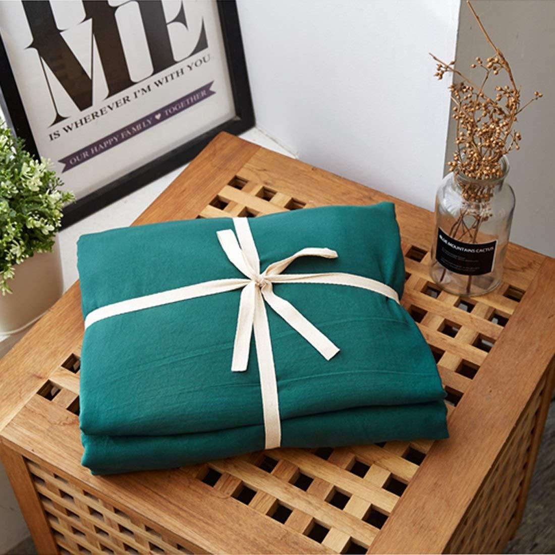 Longlong 4セットのベッド寝具セット 綿 高級 ベッドリネン枕カバー インテリアに適し 掛け布団カバー 洗える 抗菌 防臭 寝具カバーセット (色 : オレンジ, サイズ : 150*200CM) B07STDR98Q