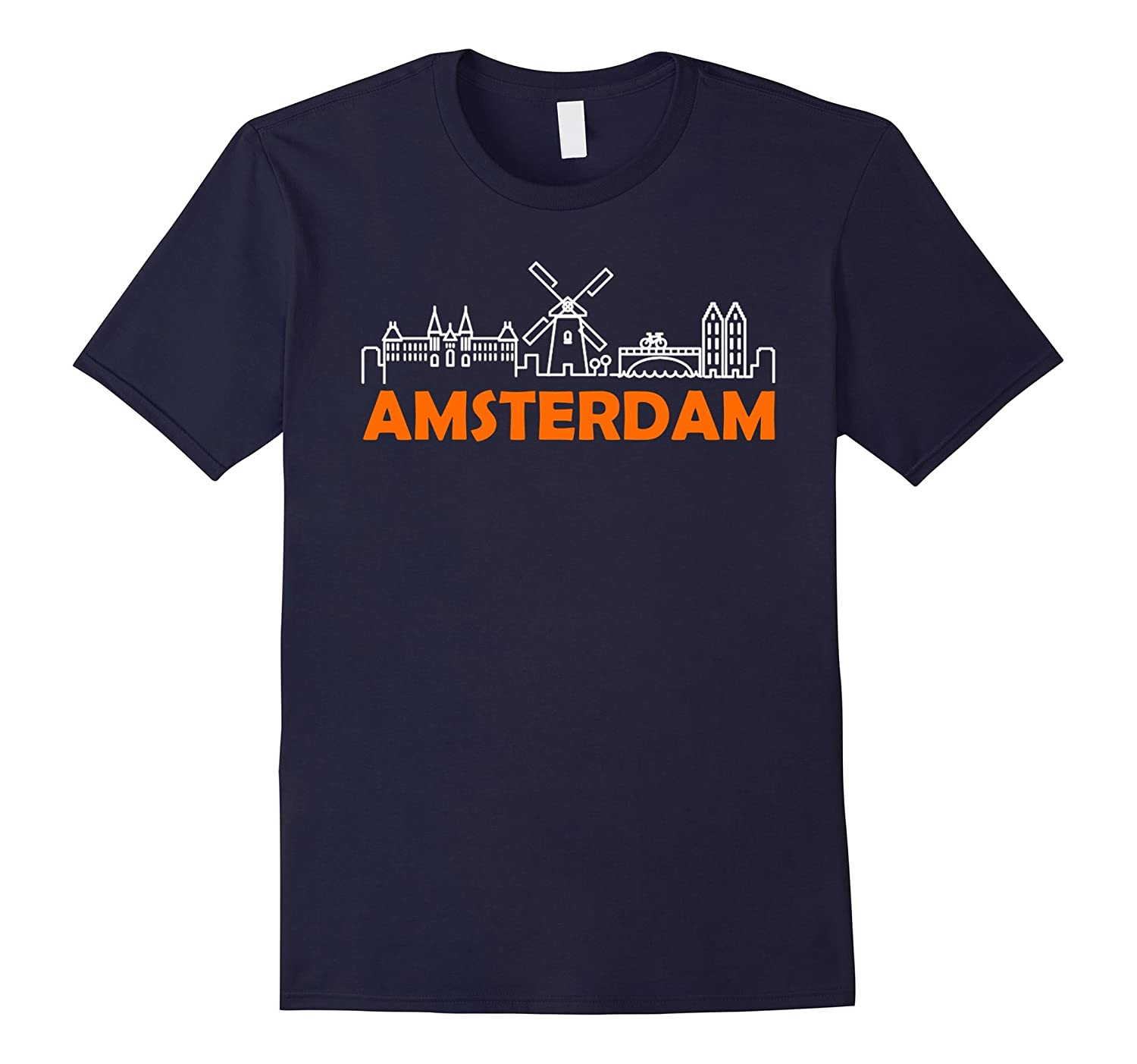 Amsterdam Holland Dutch NL T-Shirts for Man Woman Kids-FL