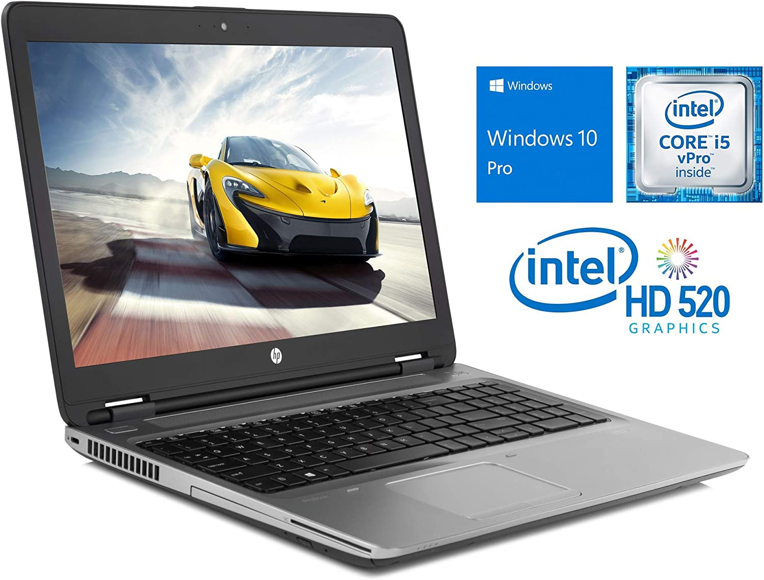 "HP ProBook 650 G2 Laptop, 15.6"" FHD Display, Intel Core i5-6300U Upto 3.0GHz, 32GB RAM, 256GB NVMe SSD, DVDRW, VGA, DisplayPort, Card Reader, Wi-Fi, Bluetooth, Windows 10 Pro (Renewed)"