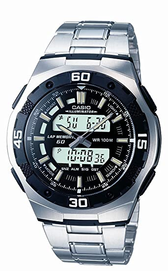 CASIO Collection AQ-164WD-1AVEF - Reloj analógico y Digital de Cuarzo con Correa