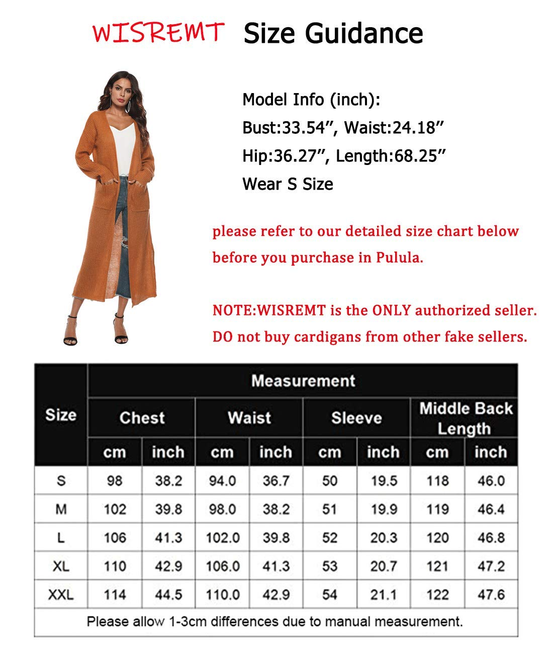 WISREMT Women's Long Sleeve Irregular Split Thick Solid Long Sweater Cardigan with Pockets Stylish Hem Open Front Cardigan Yellow Medium