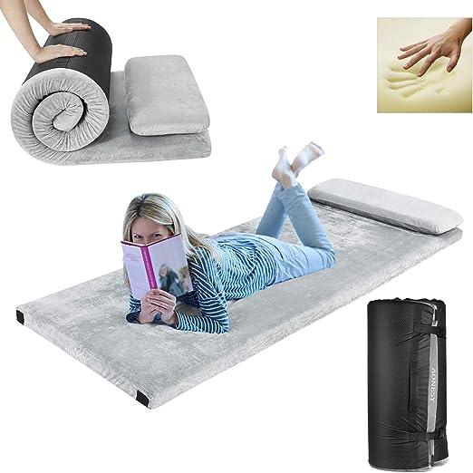 Amazon Com Aonesy Memory Foam Camping Mattress Roll Up Floor