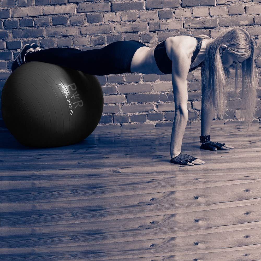 Available in 3 Sizes PhysioRoom Anti-Burst Fitness Gym//Swiss//Yoga Ball with Pump