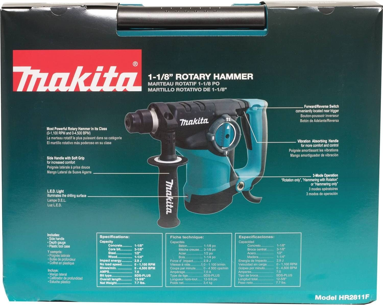 800 W Makita HR2811FT-240V SDS-PLUS Tassellatore con 2 Mandrini 28 mm