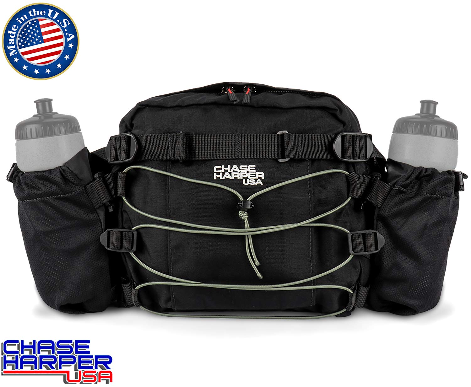 Chase Harper 9344 Sport Tour H2O Fanny Pack - Water-Resistant, Tear-Resistant, Industrial Grade Nylon by Chase Harper USA