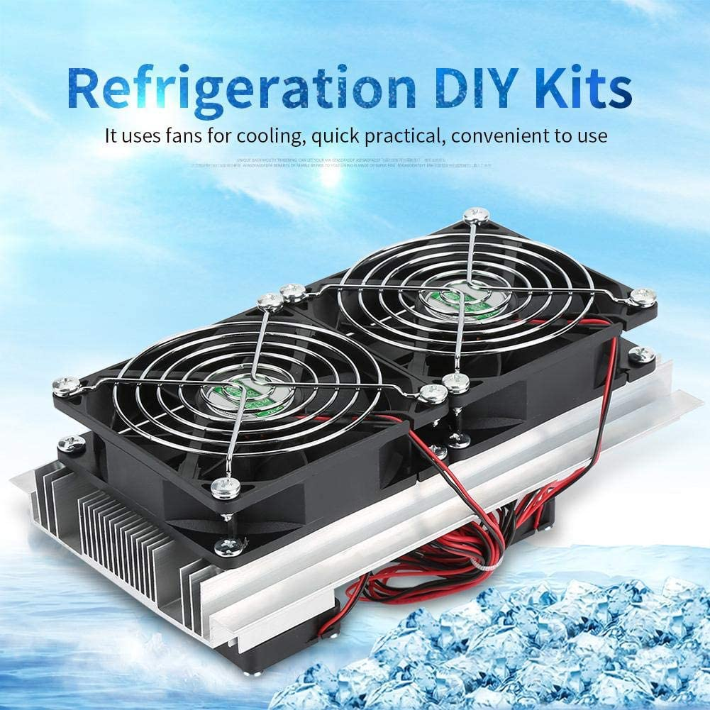 Refrigeration Cooling System Semiconductor Refrigeration Cooling Device Thermoelectric Cooler 12A 12V DIY Mini Fridge for Home Electrical