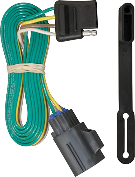 curt 56245 vehicle side custom 4 pin trailer wiring harness for select chevrolet traverse, gmc acadia, buick enclave  2013 dodge dart fuse diagram basic