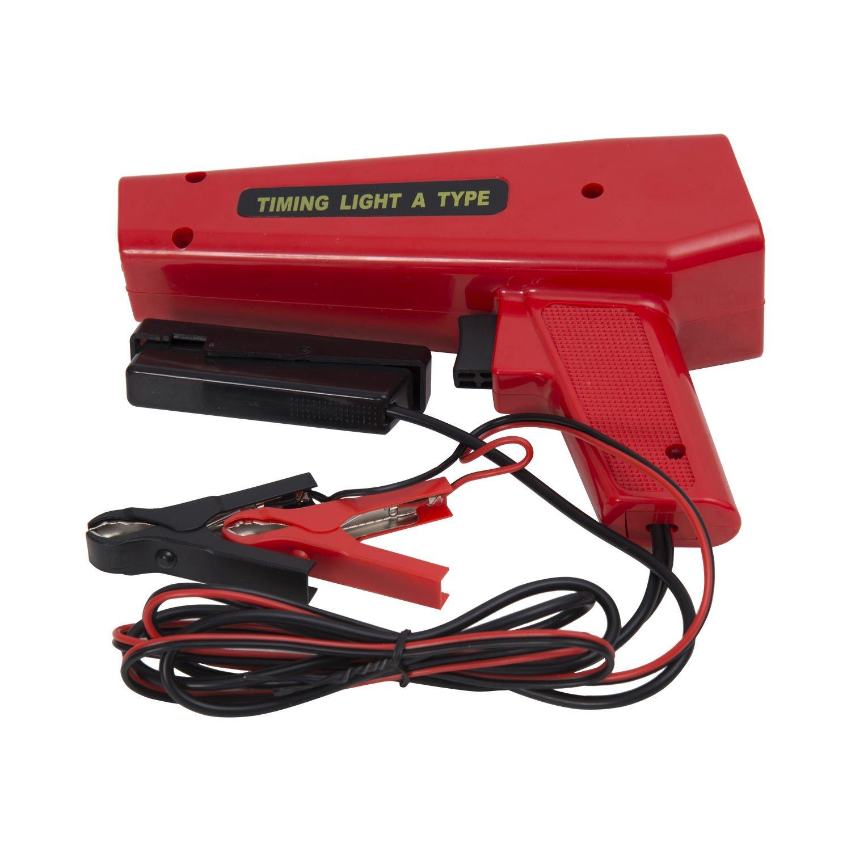 Pistola Estroboscopica 12V Motor Gasolina Lampara Xenon Punto De Encendido Color Rojo… HomCom
