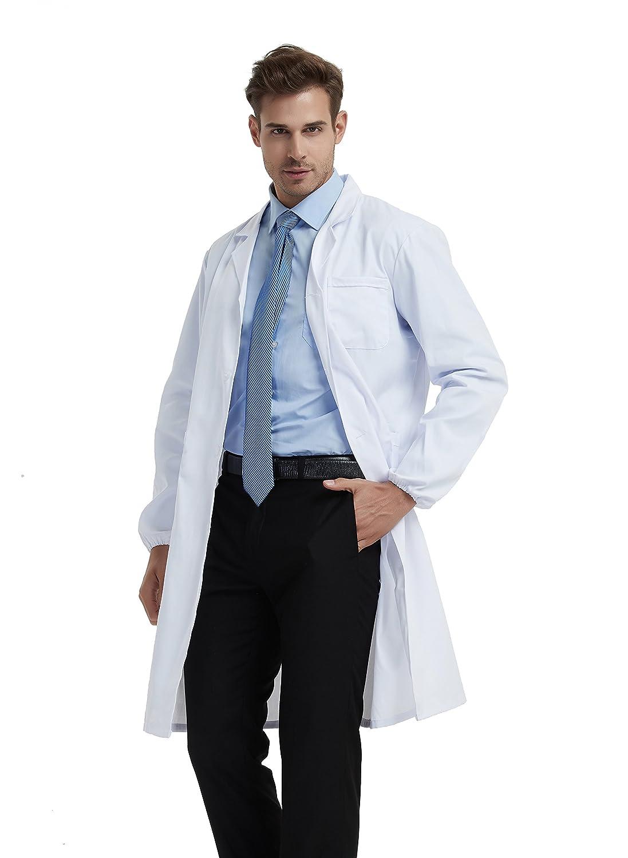 BSTT Hombre Bata de Laboratorio Blanco uniformes de trabajo 2018 nueva mejora: Amazon.es: Ropa y accesorios