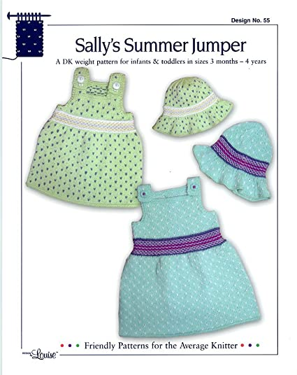 Amazon Design By Louise Knitting Pattern 55 Sallys Summer