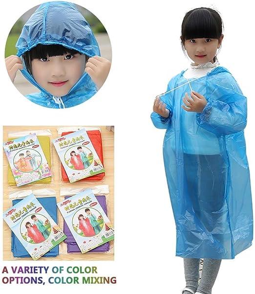AOLVO - Pack Familiar para niños y niñas con diseño de Ponchos de Lluvia Transparente desechable a Granel, Ligero y Transparente, para Viajes Familiares, Camping, Senderismo, Pesca: Amazon.es: Hogar