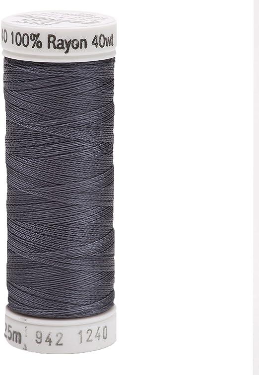 Black Sulky Of America 268d 40wt 2-Ply Rayon Thread 1500 yd