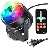 Neewer Disco Ball Disco Lights-Party Lights Sound Activated Storbe Light With Remote Control DJ Lighting,Led 3W RGB Light Bal, Dance lightshow for Home Room Parties Kids Birthday Wedding Show Club Pub