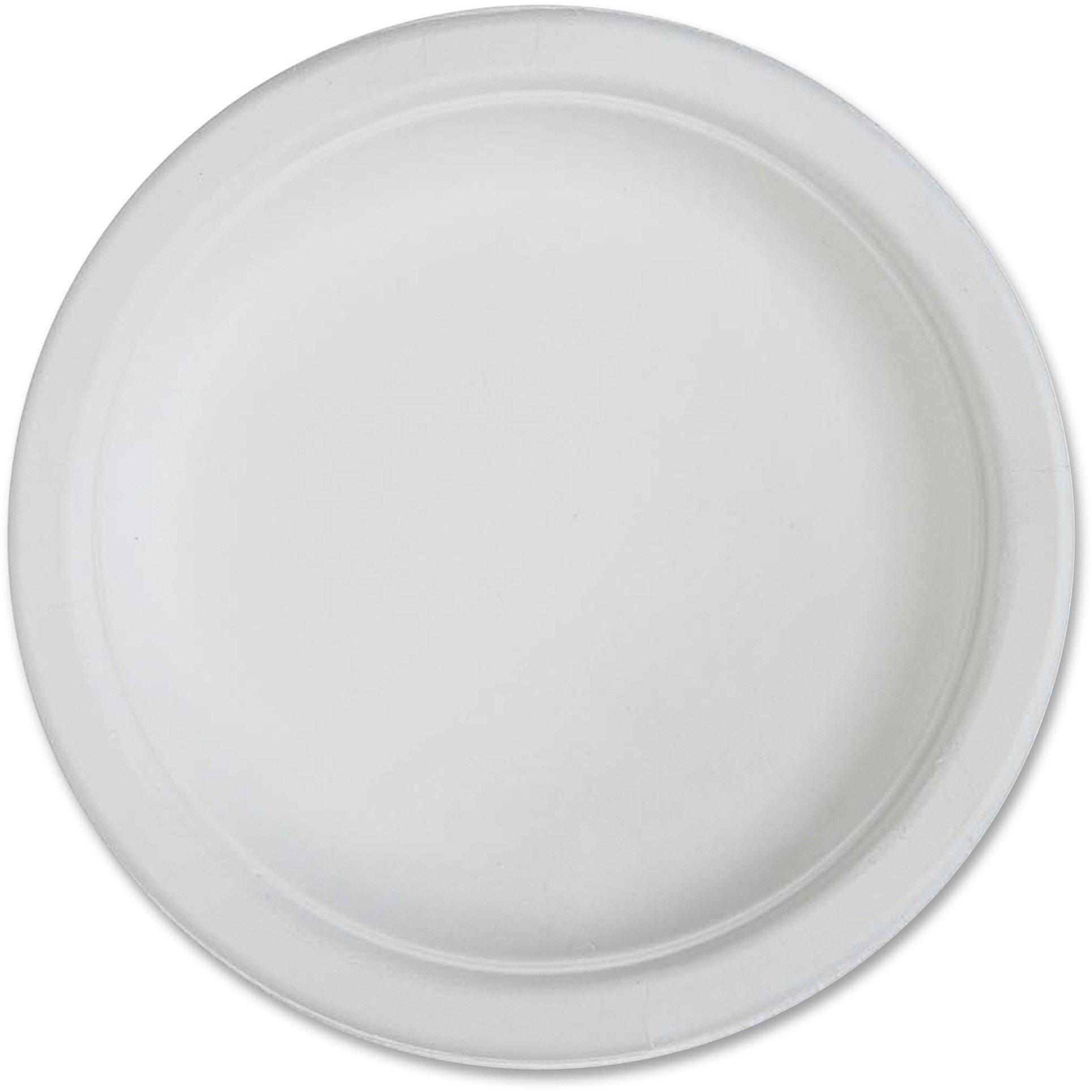 Genuine Joe 10216CT Compostable Plates, 6'', 1000/CT, White