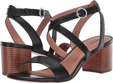 4809a1221fe9d5 Bernardo Women s Brielle Heeled Sandal Black Antique Calf 6 ...