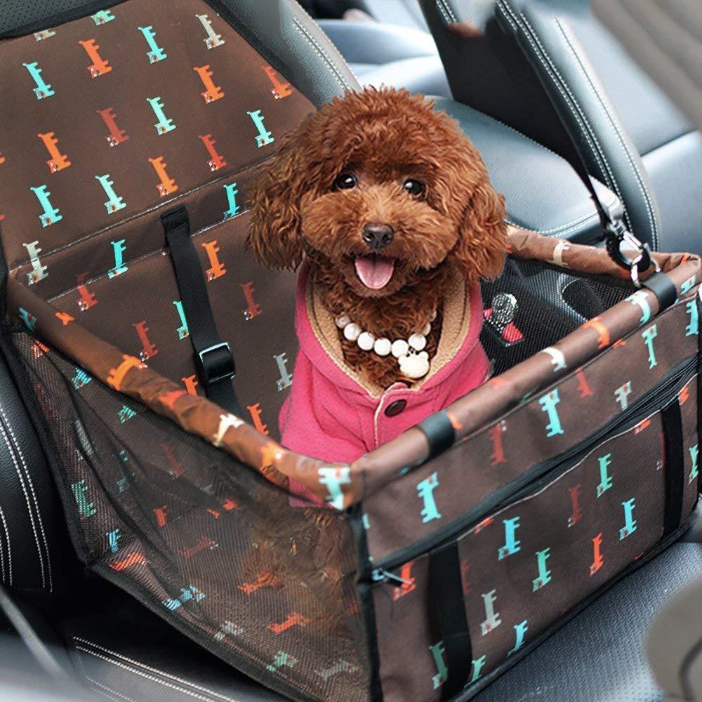 da Viaggio Gatti Rosso Seggiolino da Auto per Cani e Gatti Ideale per Cani di Piccola Taglia con guinzaglio di Sicurezza Facile da Piegare Blu Nero Impermeabile Sinrextraonry con Cinghia