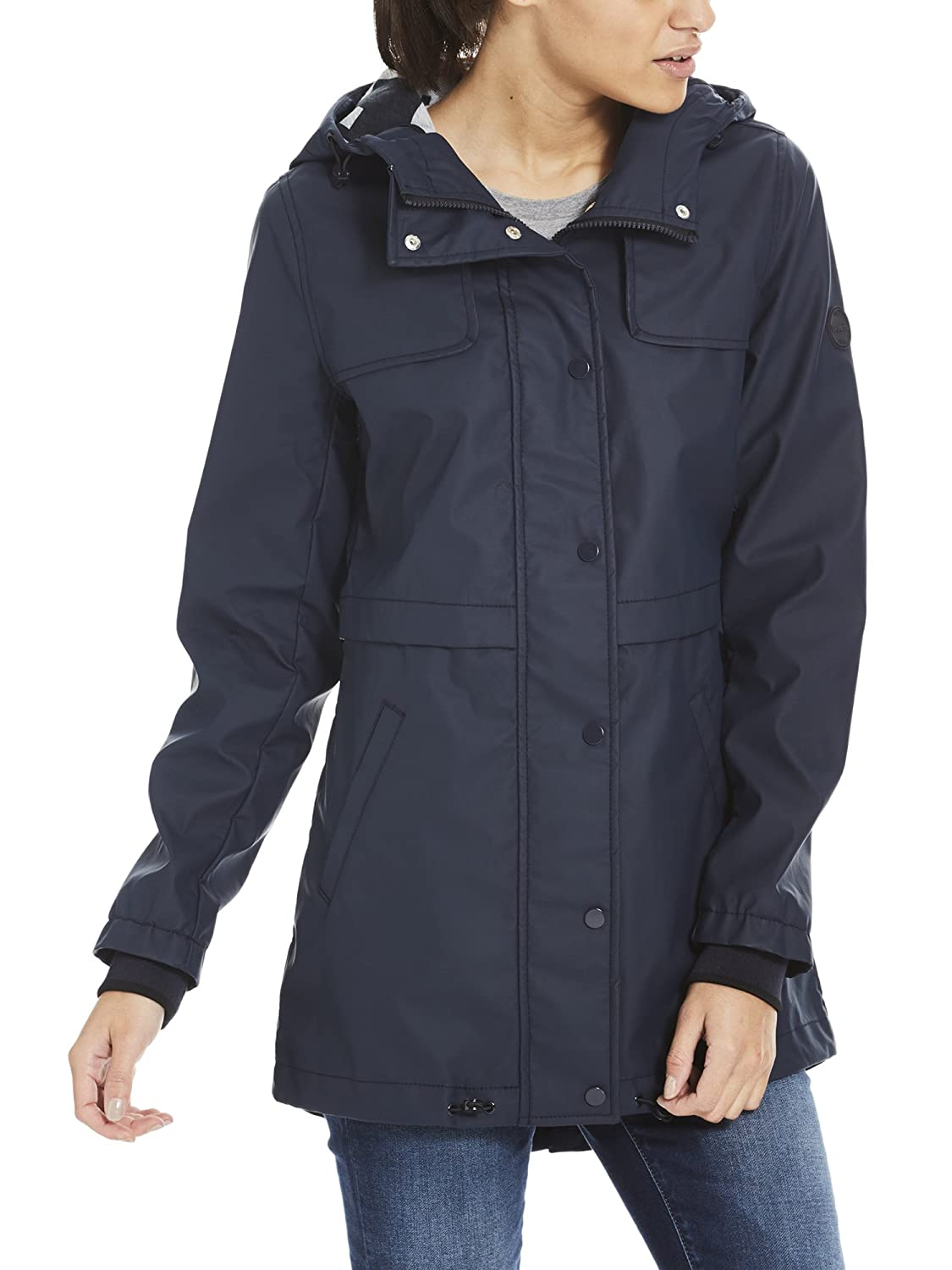 TALLA L. Bench Bonded Slim Rainjacket Impermeable para Mujer