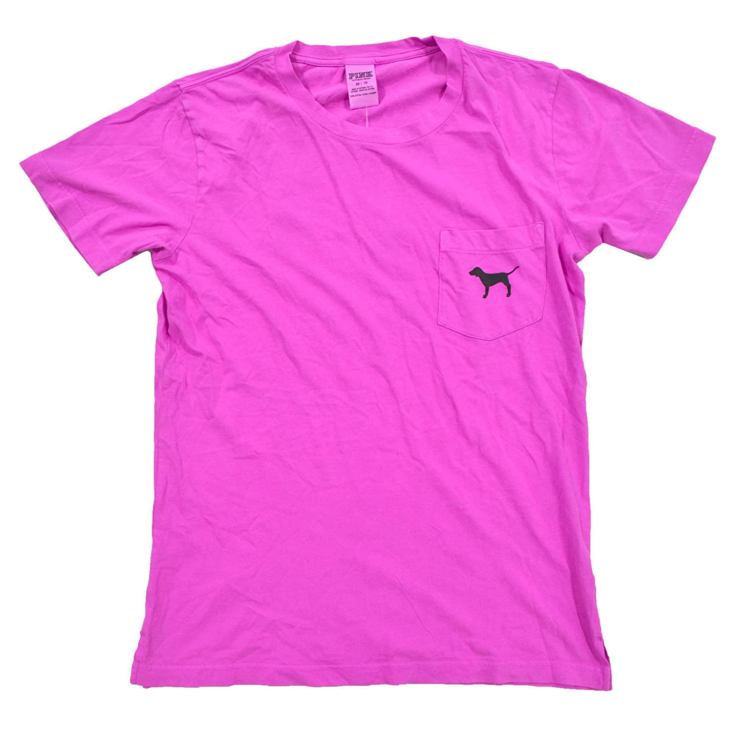 5d7dc685 Victoria's Secret Pink Crew Neck Short Sleeve Graphic T-Shirt (XS, Bright  Pink) at Amazon Women's Clothing store: