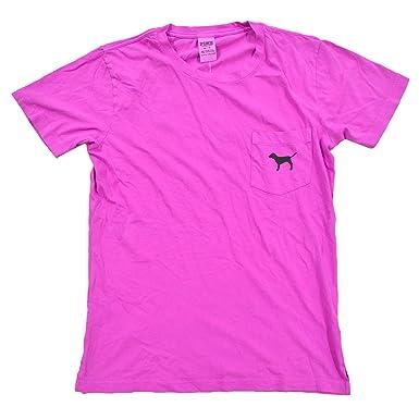 664700d83c6a1 Victoria's Secret Pink Crew Neck Short Sleeve Graphic T-Shirt (XS ...