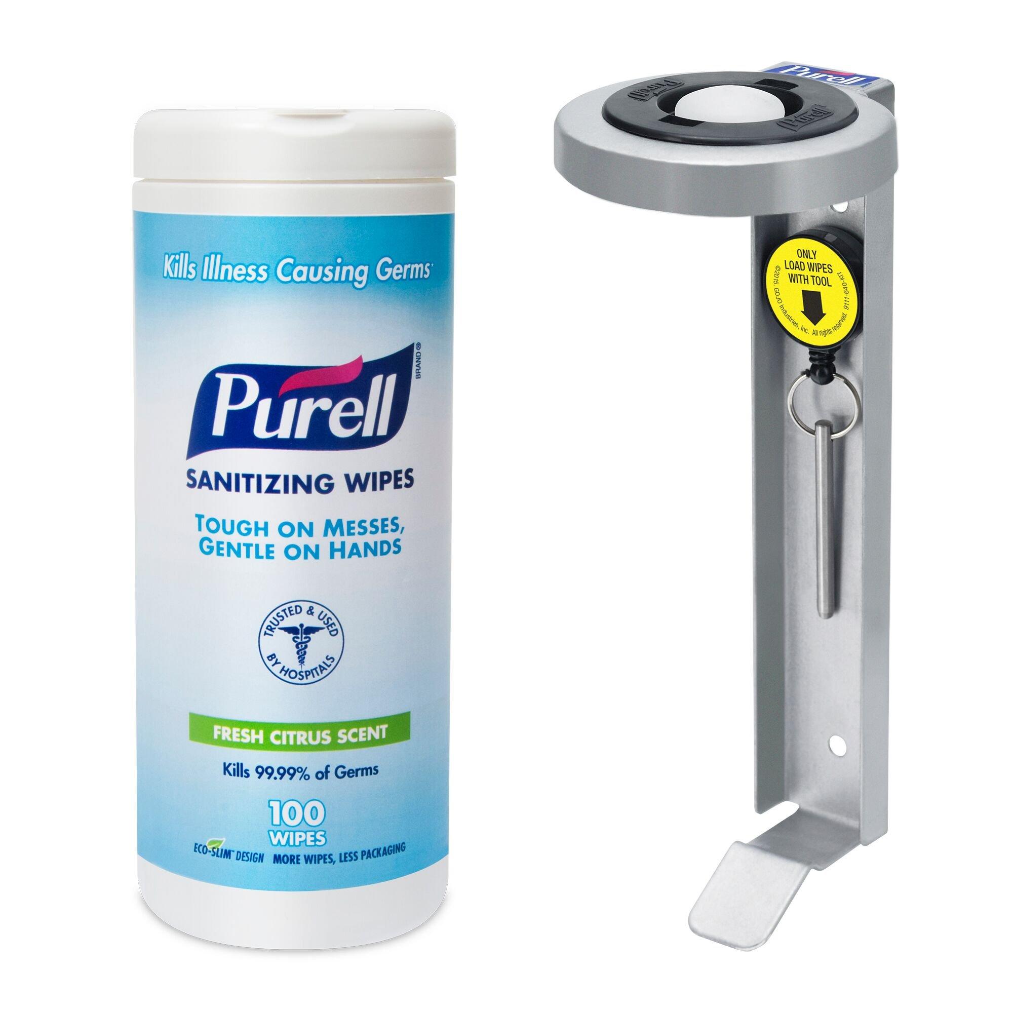PURELL Hand Sanitizing Wipes - 100 Ct Bracket Kit