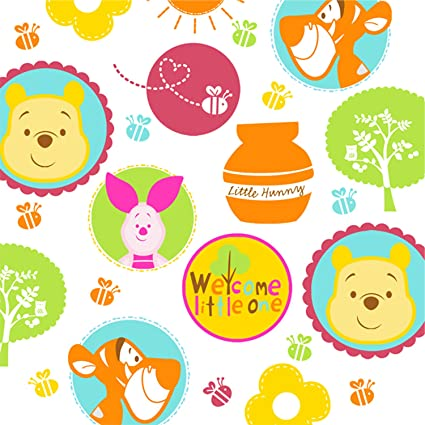 amazon com winnie the pooh little hunny baby shower large napkins rh amazon com Winnie the Pooh and Friends Clip Art Winnie the Pooh and Friends Clip Art