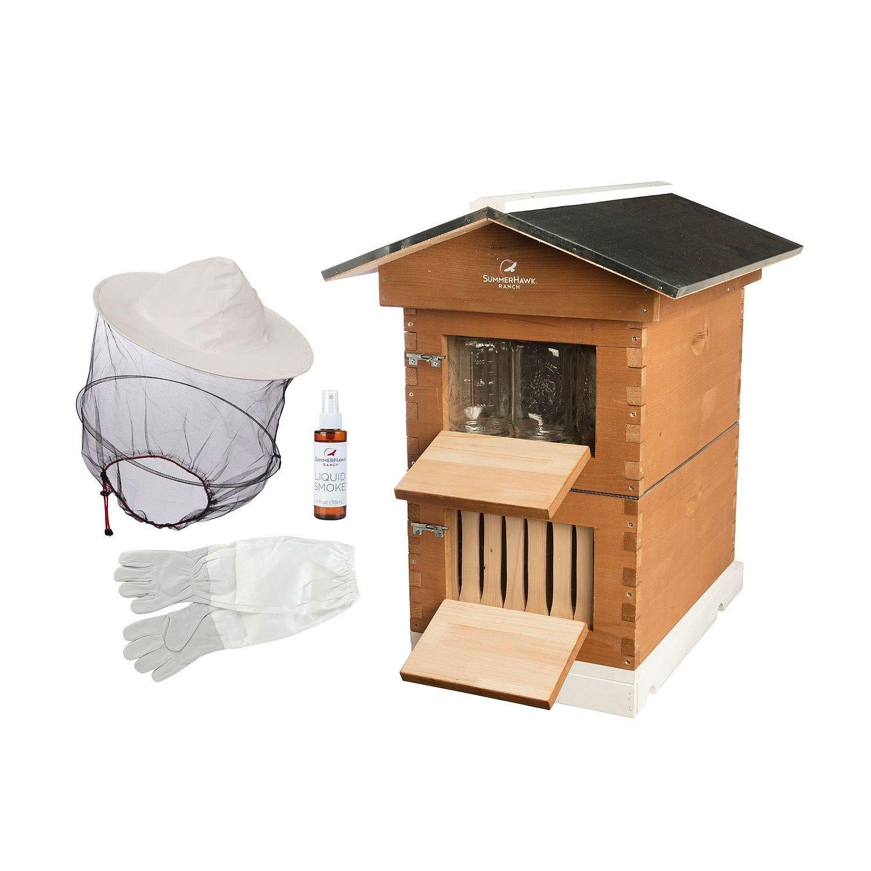 Complete Backyard Beekeeping Honey Mason Jar Beehive Kit System w/ Extras