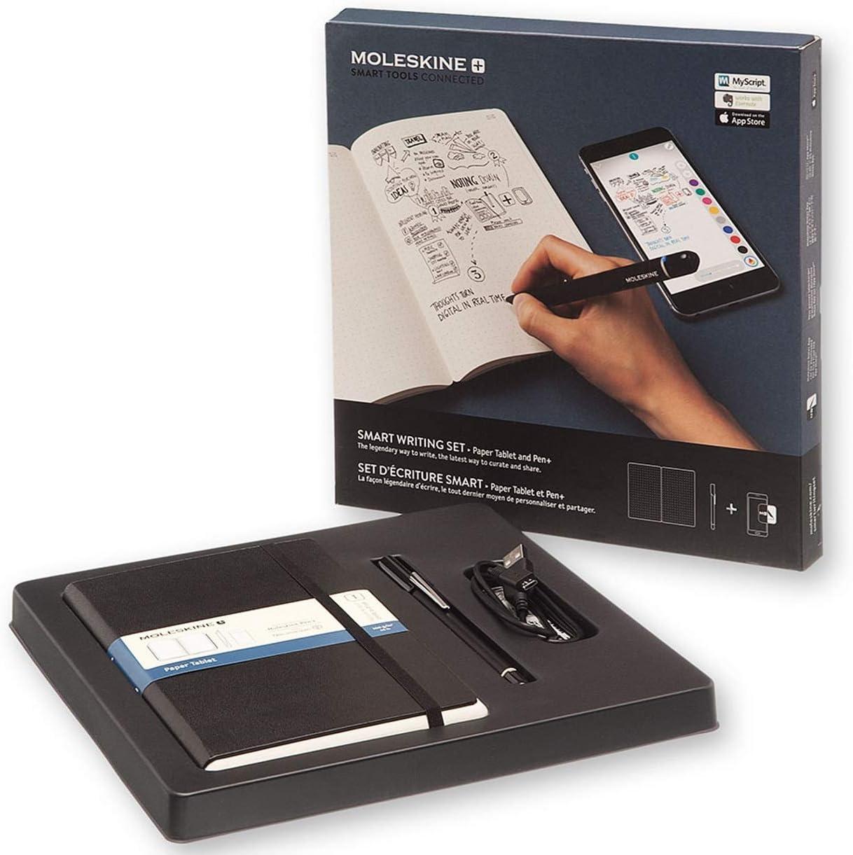 Moleskine Smart Writing Set - Set de Escritura Inteligente, Cuaderno Digital y Bolígrafo, Hojas Punteadas, Color Negro: Amazon.es: Oficina y papelería