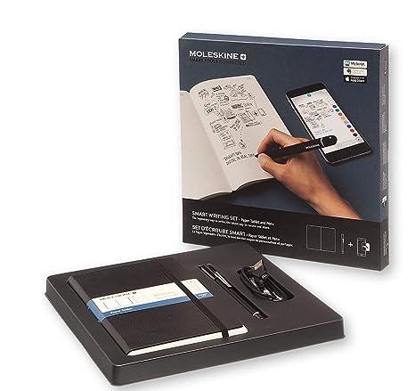 Moleskine - Set de Escritura Inteligente, Cuaderno Digital y Bolígrafo + Smart Bolígrafo, Cuaderno con Tapa Dura Negra Apto para Uso con Bolígrafo ...