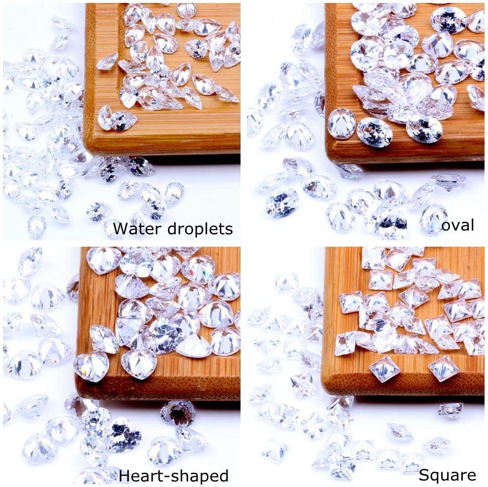 2mm 100pcs Size 2~10mm And Mix 2-7mm Sizes White Square Cubic Zirconia Stone Beads Loose CZ Zirconia For Jewelry Making Materrial