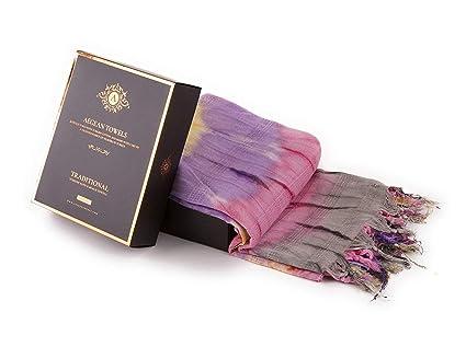 Aegean Towels Toalla turca tradicional de pestemal para baño, playa, hamaca y sauna,