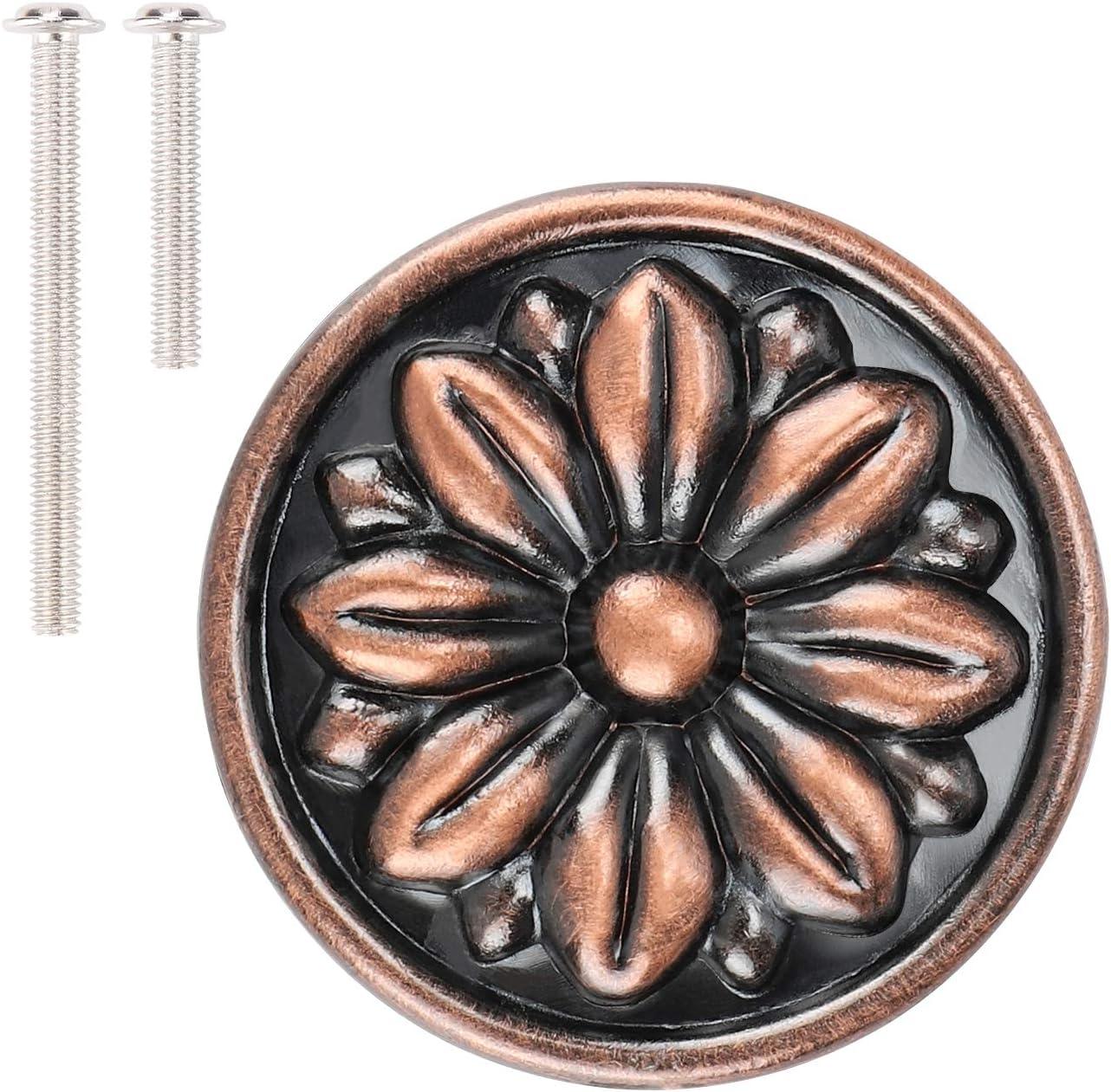 10 Brass Knobs NOS Dresser Drawer Handle Pull Furniture Hardware Vintage Cabinet