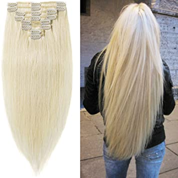 Hair extensions clip in 10 inch