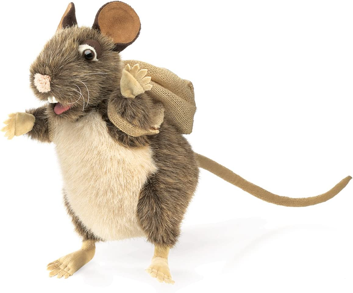 Folkmanis Rat In Tin Can Hand Puppet